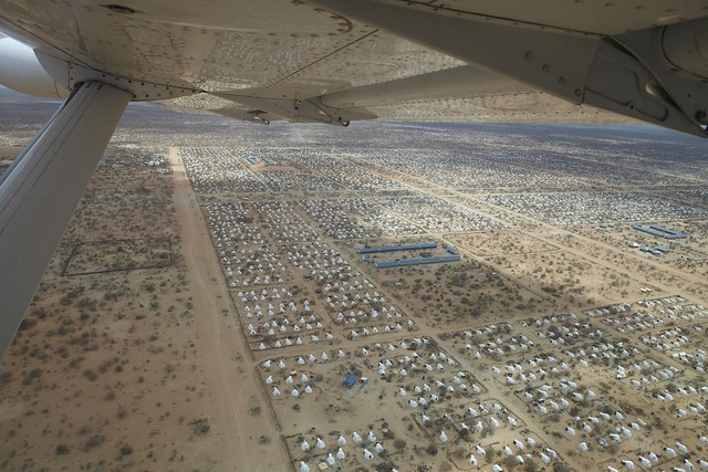 An aerial view of the world's largest refugee camp in 2011, Dadaab, Kenya. Photo by Oxfam International