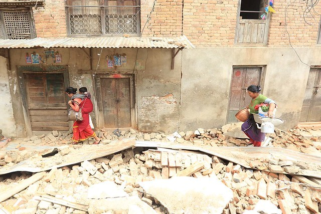 Damage caused by the Nepal earthquake. Photo by UNDP